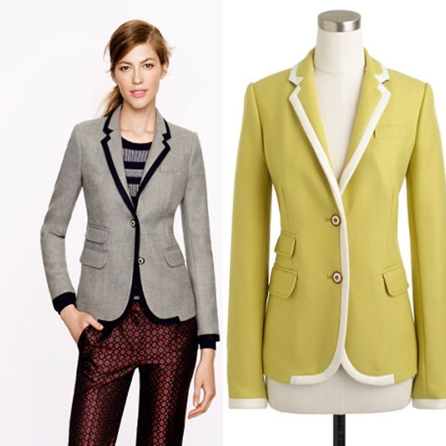 J CREW SCHOOLBOY BLAZER IN TIPPED WOOL IS A MUST HAVE STAPLE PIECE ...