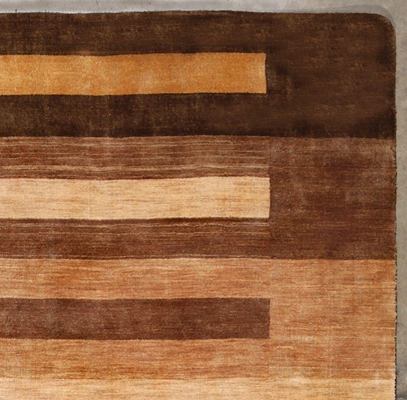 Rugsville Gabbeh Handloom Gold New Zealand Wool 11267 Rug