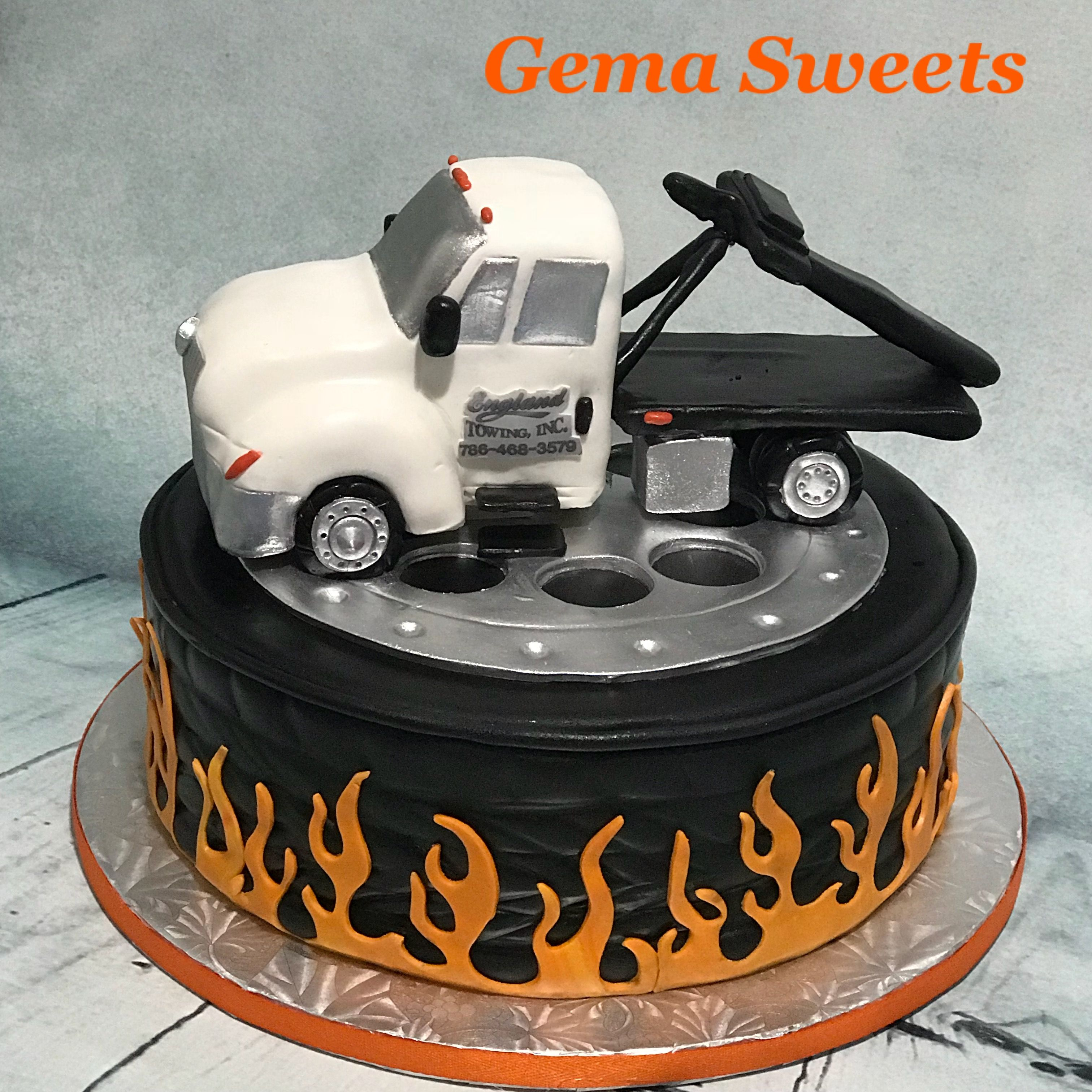 Tow Truck Cake By Gema Sweets My Creations Pinterest Truck
