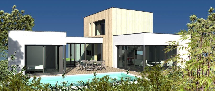 Projet du0027une maison architecturale contemporaine à toit plat et