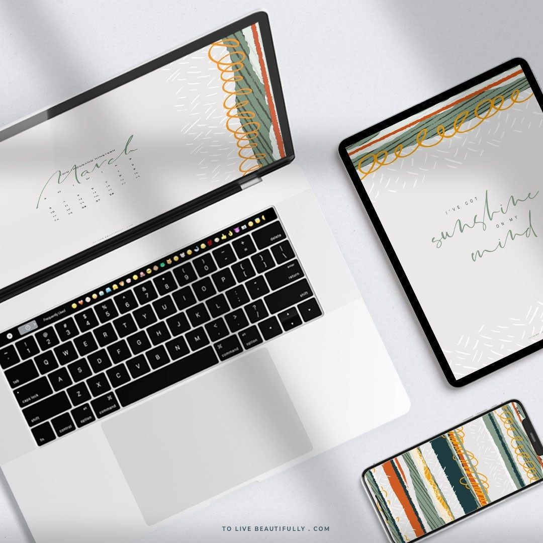 Free March 2019 Calendar for Desktop, iPad, and iPhone