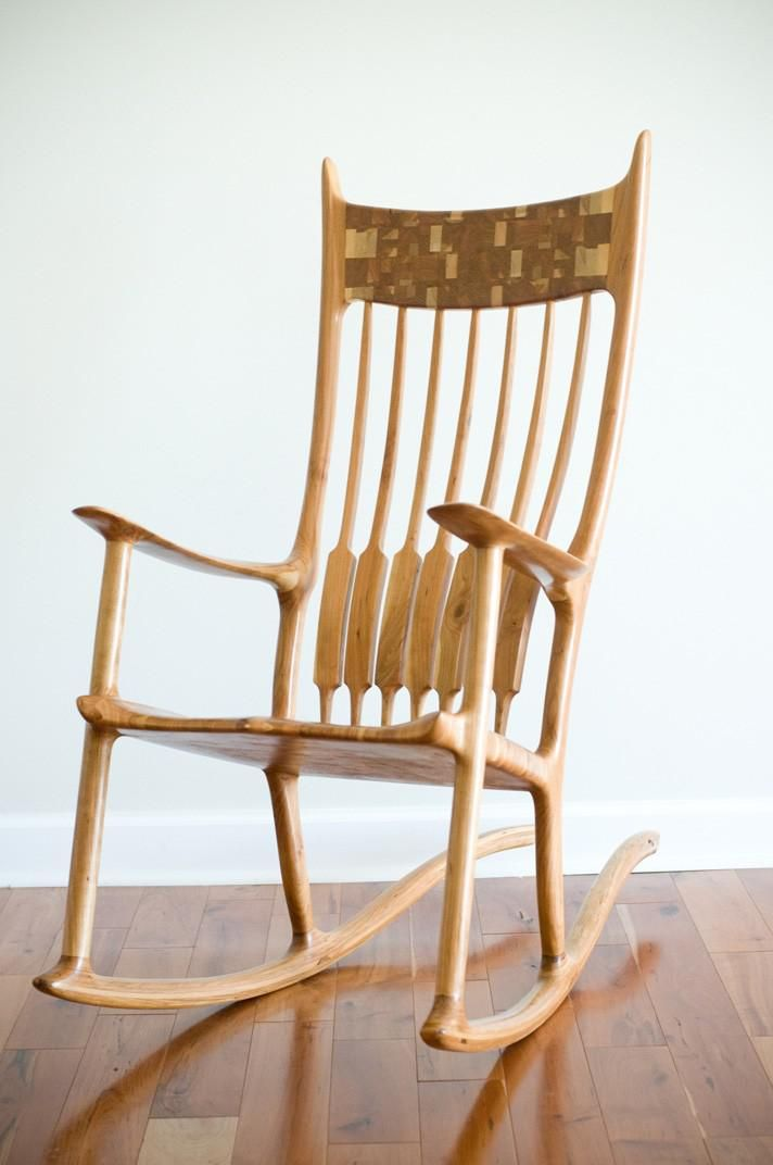 Sam Maloof Inspired Rocking Chair In 2019 Rocking Chair