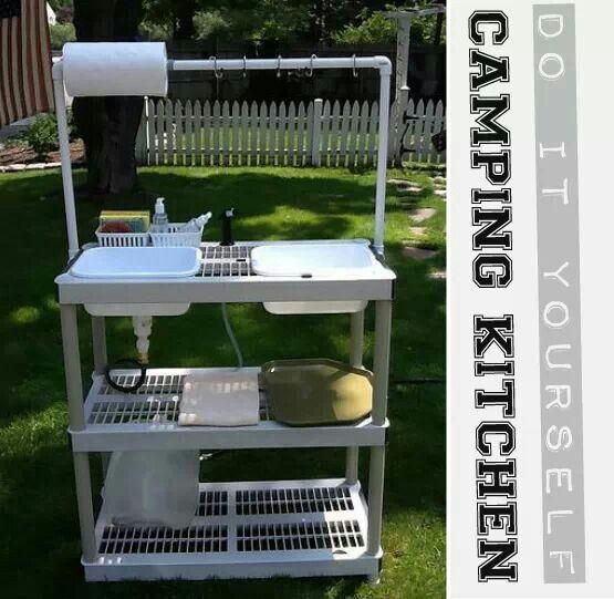 Diy Camp Kitchen Camping Pinterest