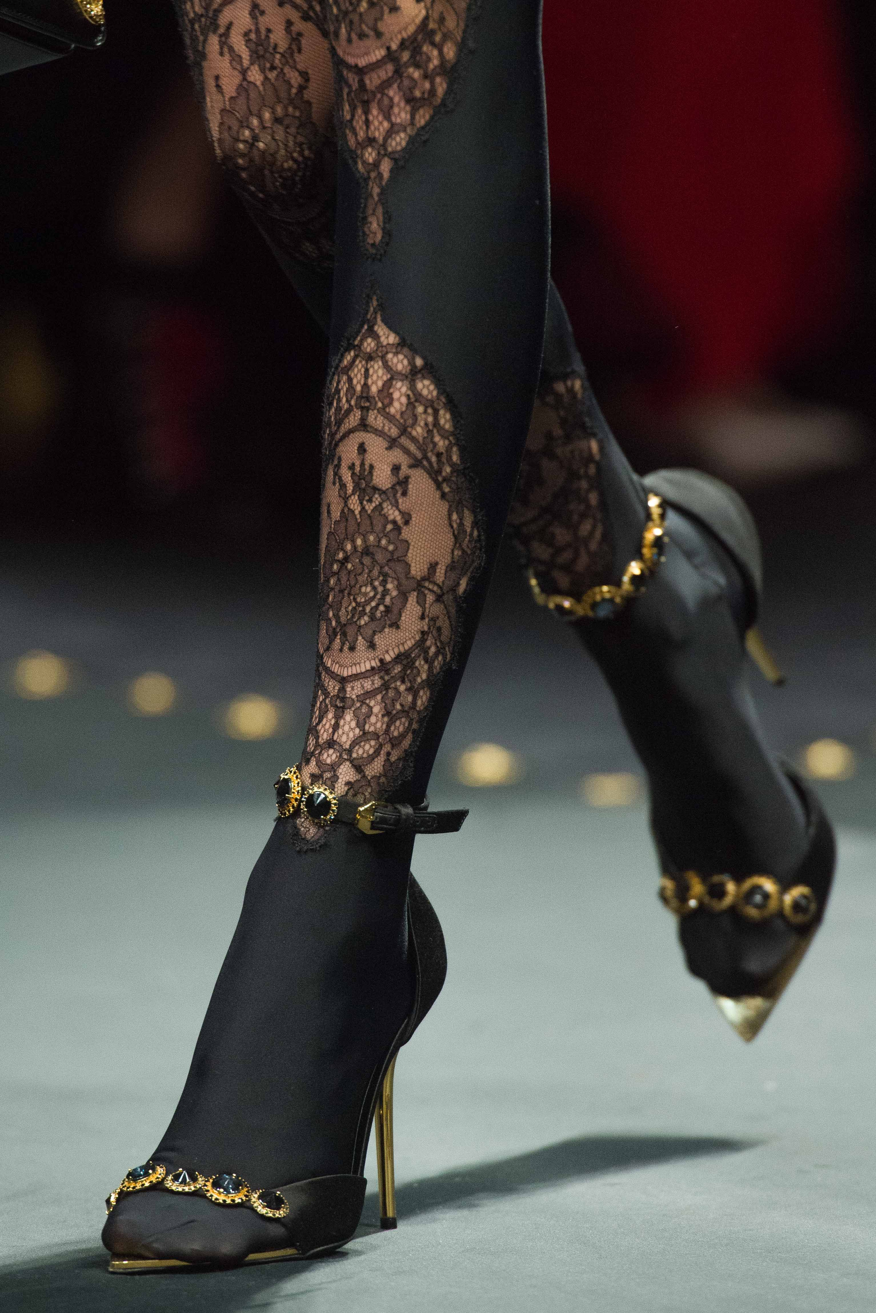 Hosiery Trends 2020.Versace Sandals With Tights For 2019 In 2019 Trendy
