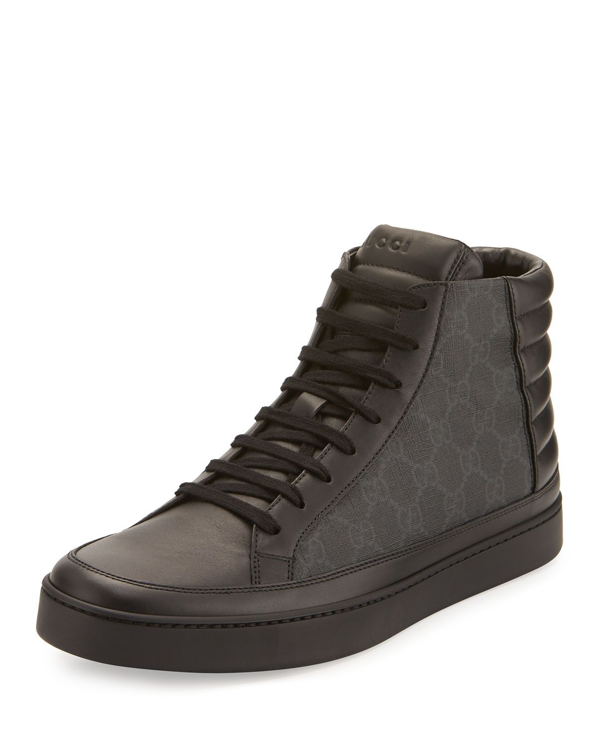 e92947257 Men's Common Canvas & Leather High-Top Sneakers in 2019 | AJ ...