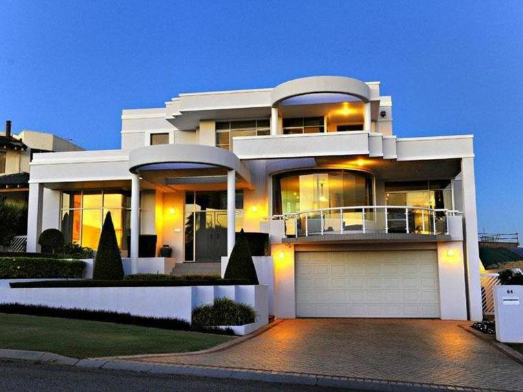 Fachadas de chalets con dise os originales y modernos casas pinterest casas casas - Planos casas de lujo ...