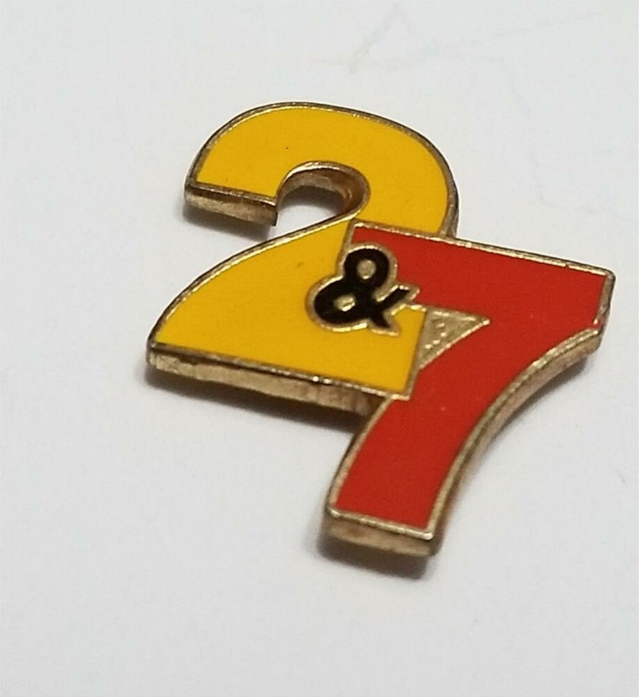 Vintage 2 & 7 Television Lapel Hat Pin 617 Tv on the