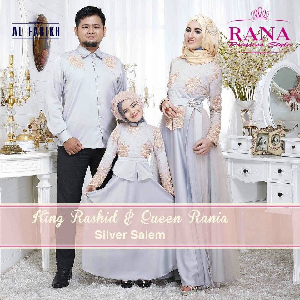 Queen Rania Gamis Pesta Muslimah Pesta Silver Salem  Muslim dress