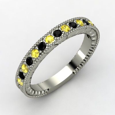 Jewelry Gemvara Black Diamond Wedding Bands White Gold Rings 14k White Gold Ring