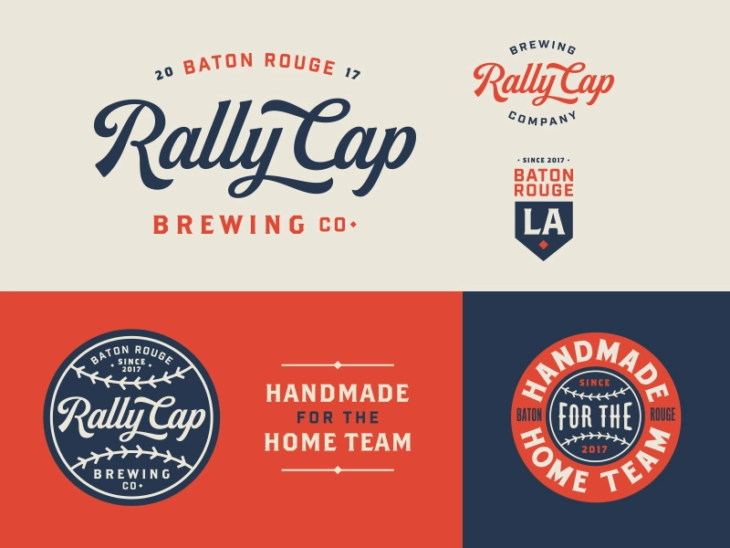 RCB Co. Badge design, Logos design, Retro logos