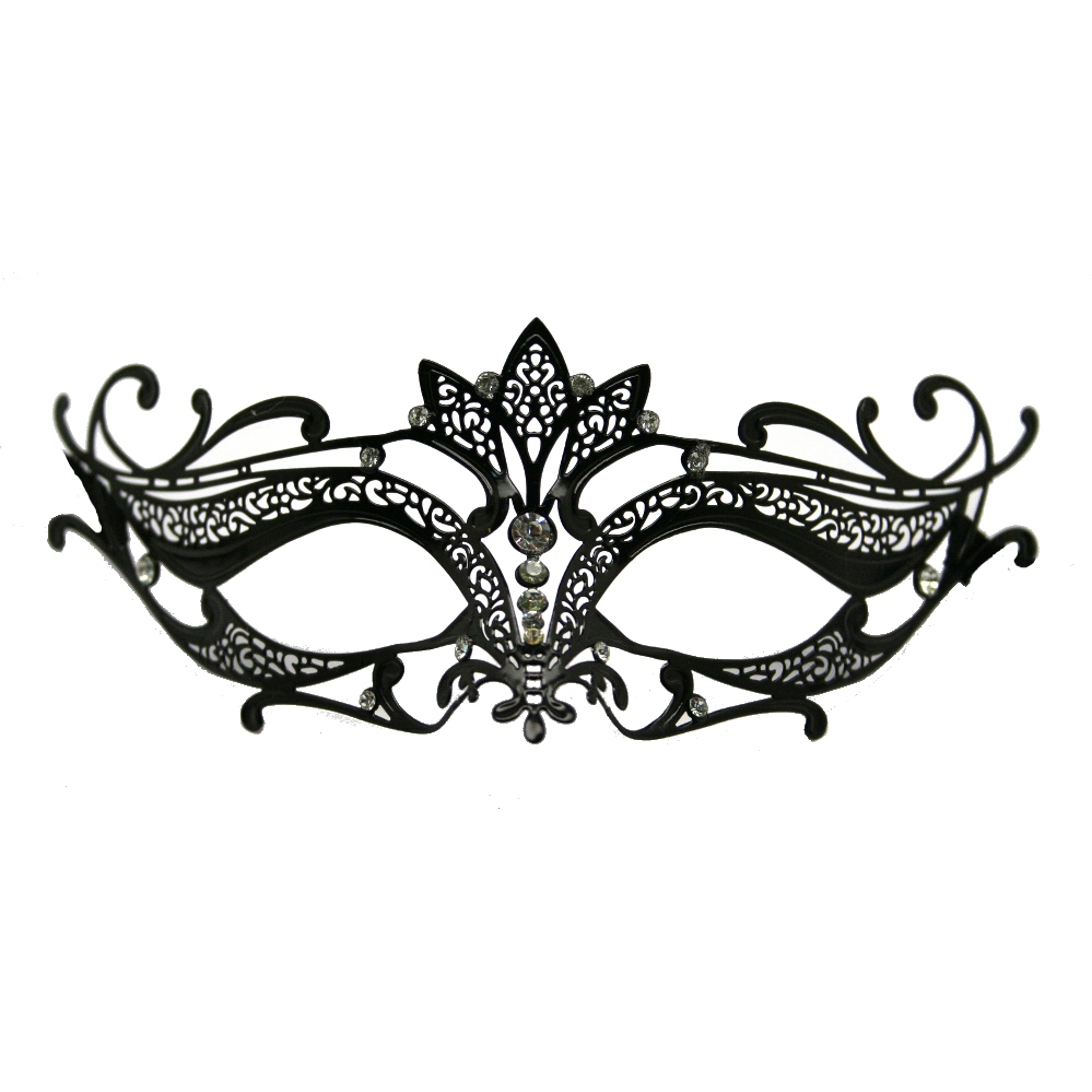 Black Metal Venetian Crown Top Mask | Halloween | Pinterest | Black ...