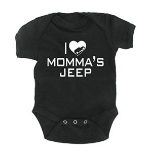 I Love Momma S Jeep Wrangler Baby Onesie Jeep Baby Baby Onesies