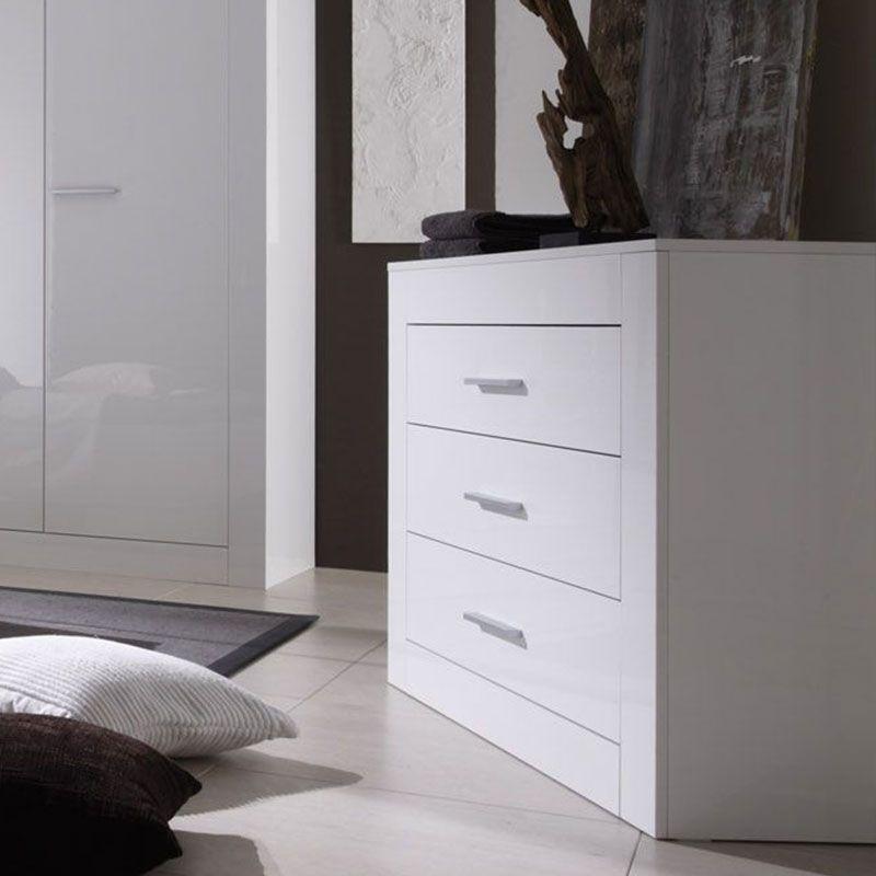 Commode blanc laqué design MILLESIME | Meubles chambre adulte ...