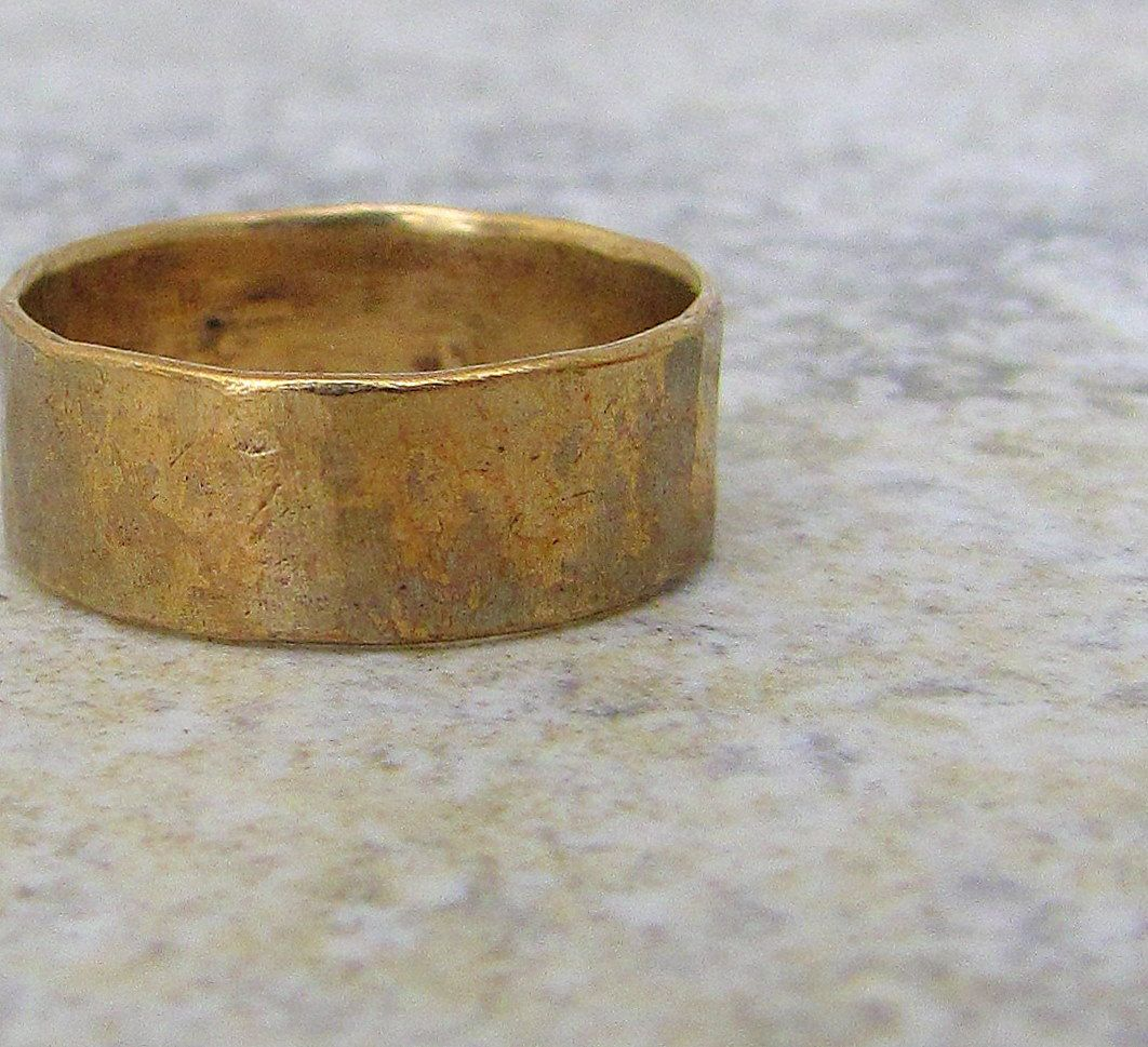 mens hammered wedding bands Hammered Brass Band Distressed Wedding Ring Rustic Mens Wedding Band Unique Wedding Bands Rustic Wedding Rings Gift for Him Relic Artifact