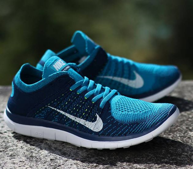 Nike Free Flyknit 4 0-Neo Turquoise-White-Brave Blue-Volt. Chaussures ...