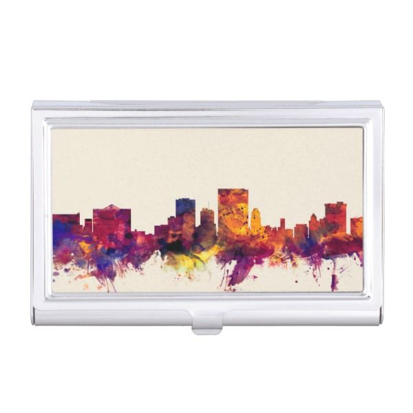 El paso texas skyline business card case custom office retirement el paso texas skyline business card case custom office retirement office retirement reheart Image collections
