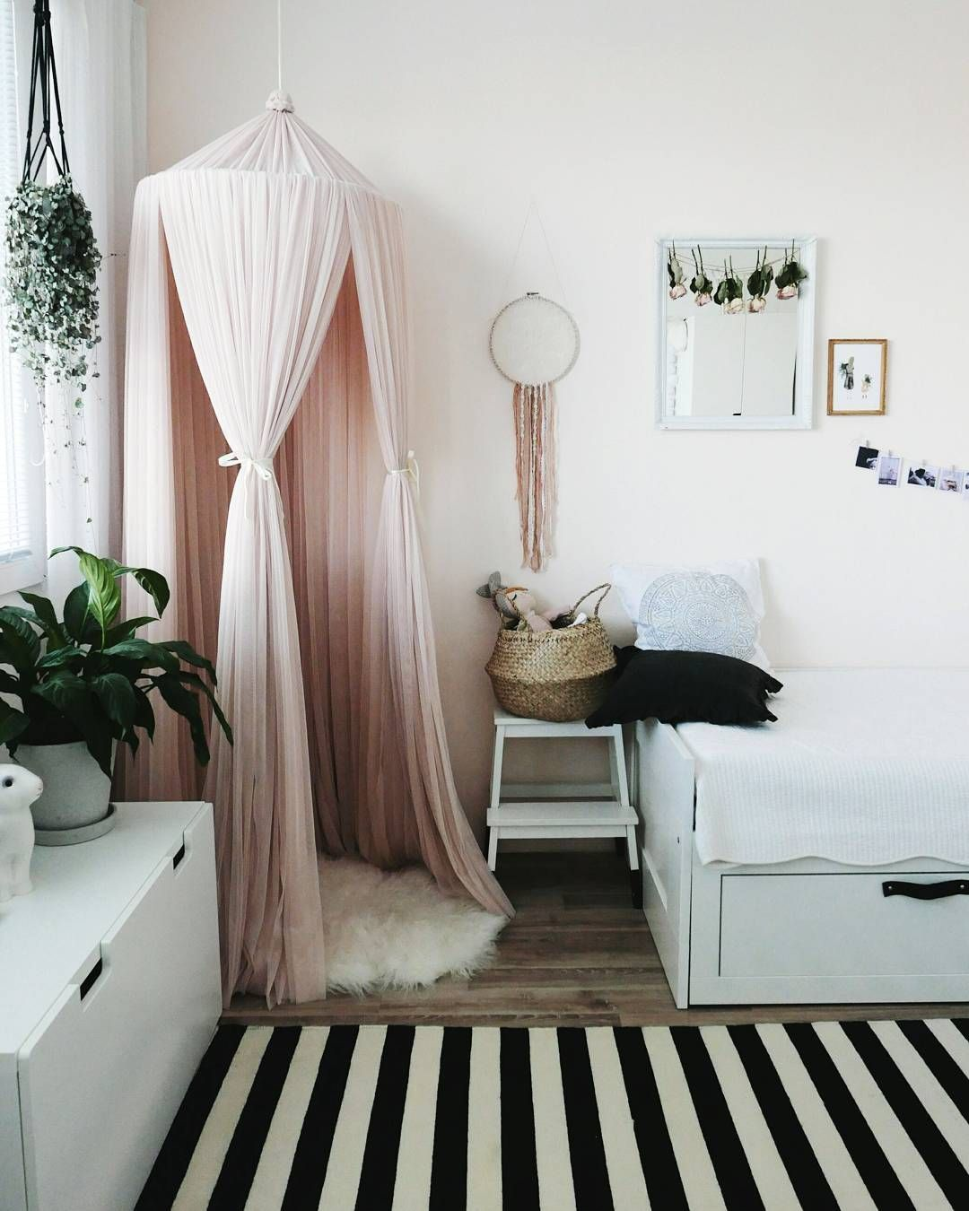 How To Hang Curtains On A Canopy Bed Ehow - Create magical spaces with this blush pink dreamy nursery canopy it s perfect over beds cribs and as a reading or play corner