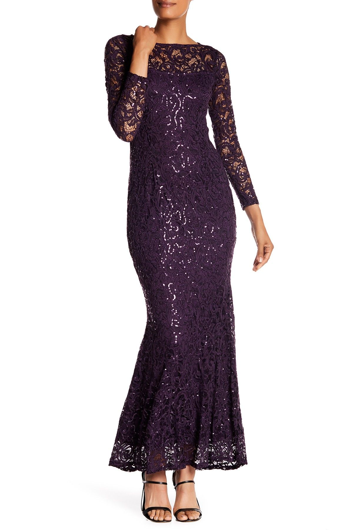 Long Sleeve Lace Gown | Long sleeve lace gown and Products