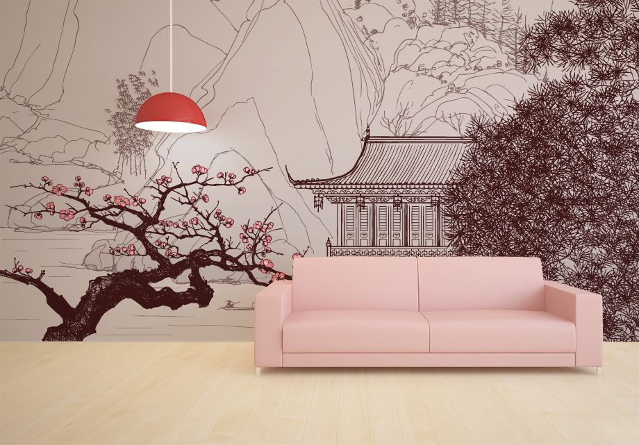 Japanese Wallpaper Walls Decor Wall Decals For Bedroom Home