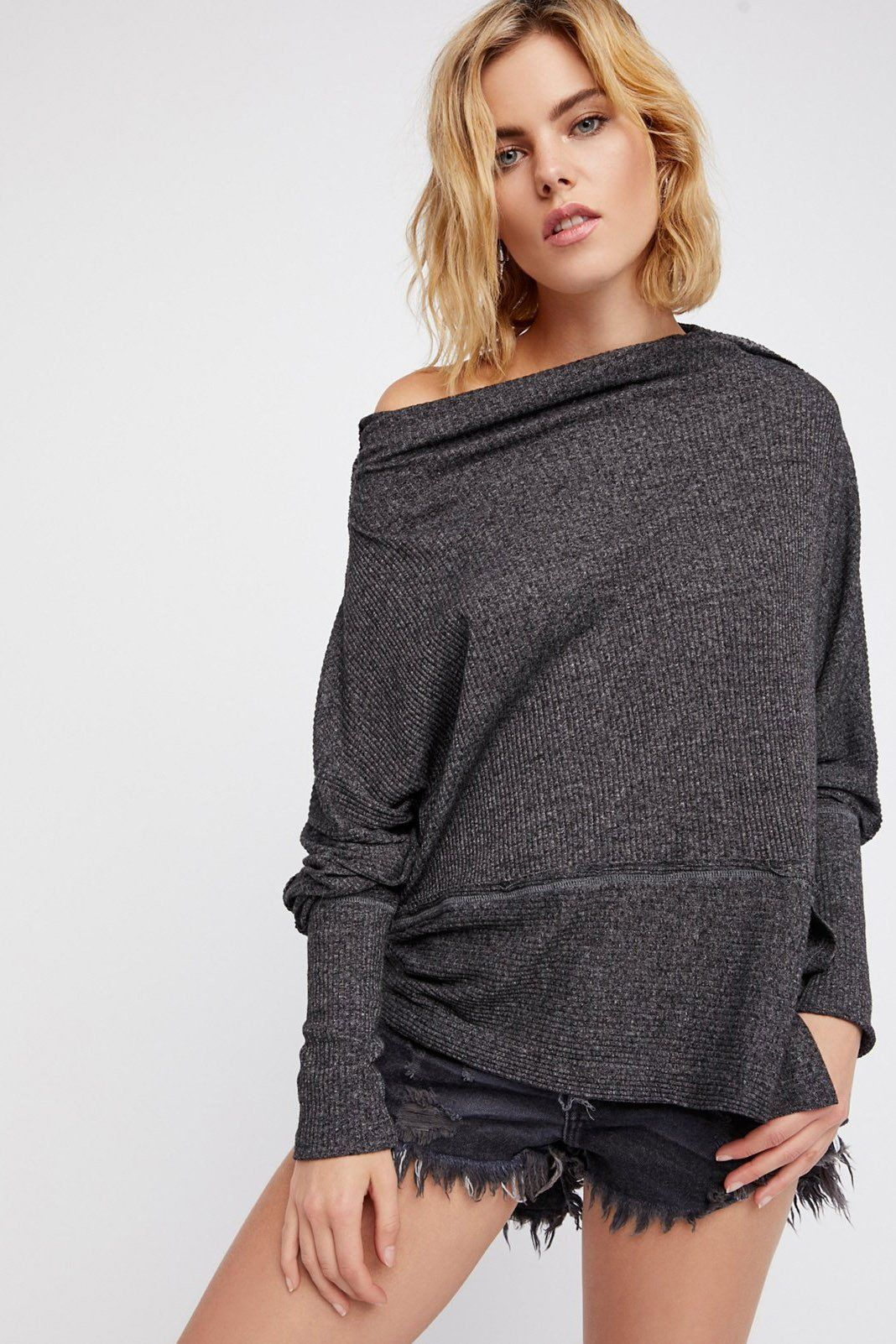 e5bd86284af Free People - We the Free Londontown Thermal in Black (OB658525 ...
