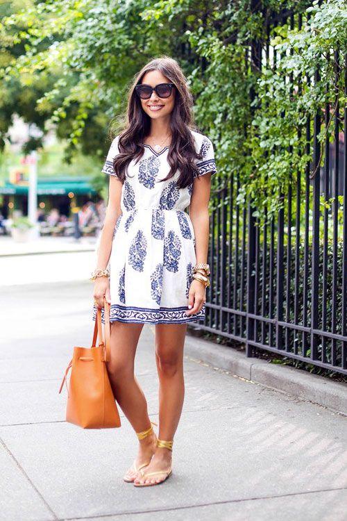 Boho Mini Dress, Flats #bohemian #ootd