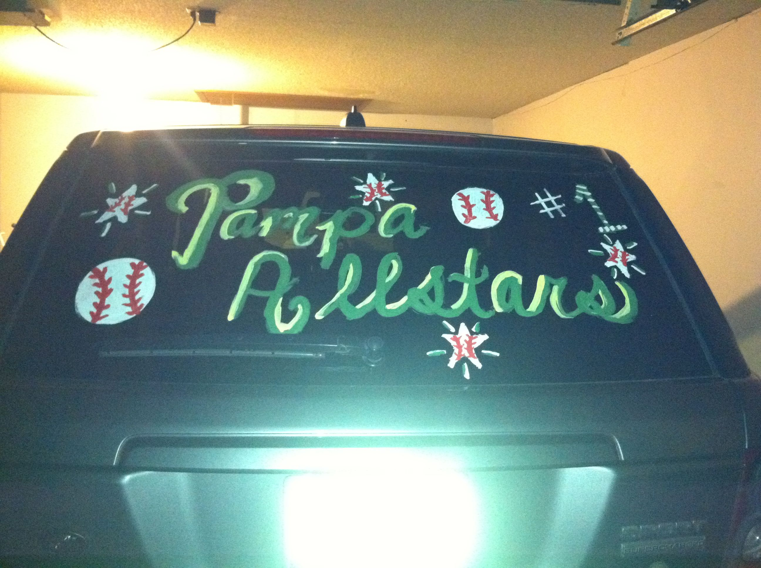 Car Window Painting Ideas For Baseball