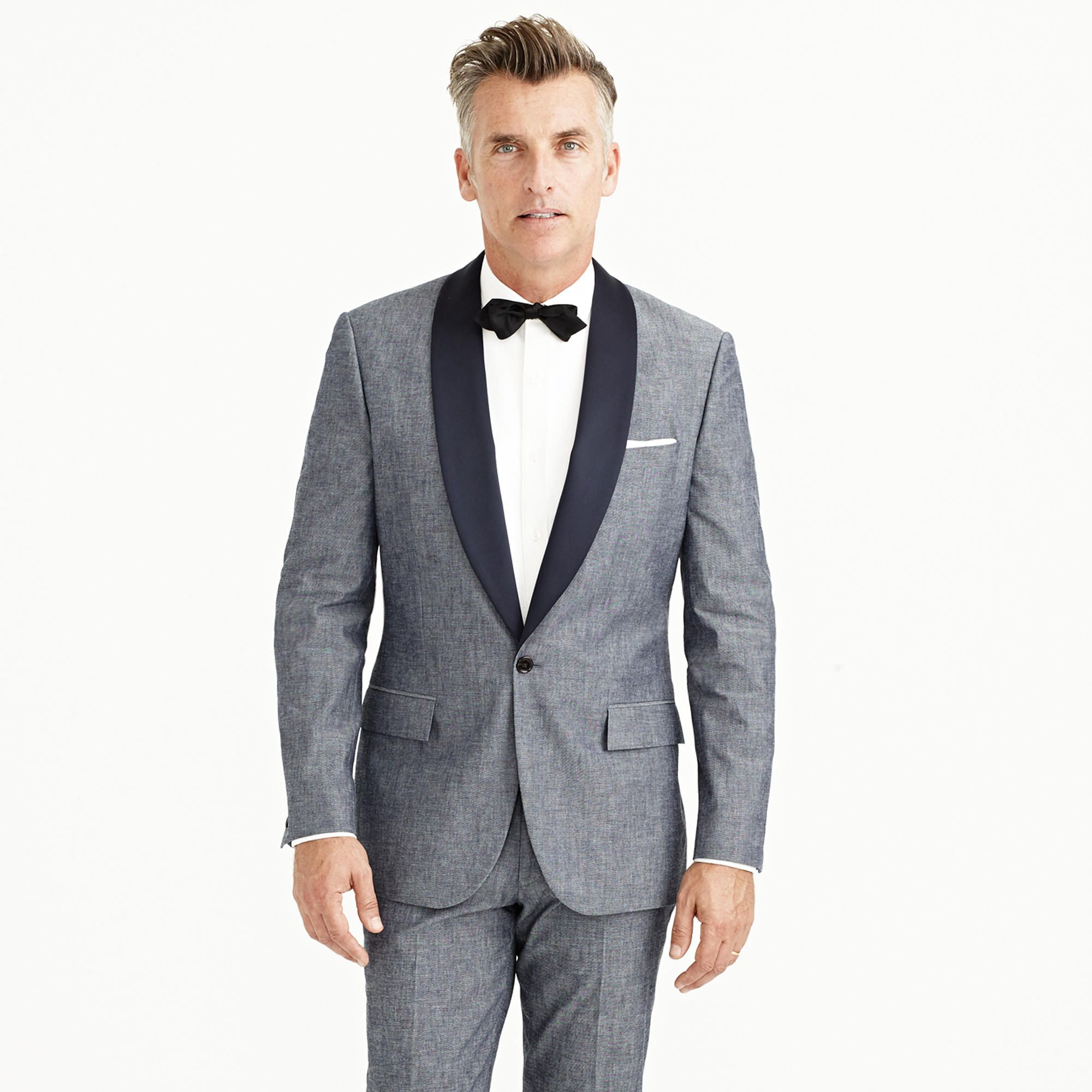 057f21938c9 Ludlow tuxedo jacket in Japanese chambray - suits -Men- J.Crew ...