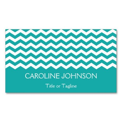 Trendy modern teal green white chevron zigzag pack of standard trendy modern teal green white chevron zigzag pack of standard business cards by tigerlynx reheart Gallery