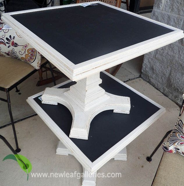 Chalk Board Painted Side Tables