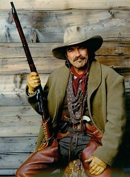 1e3cd9f340846 Tom Selleck with his Sharps Rifle...Quigley Down Under