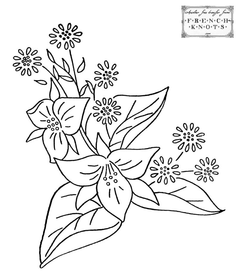 Vintage Embroidery Patterns Free Hearts And Flowers Embroidery