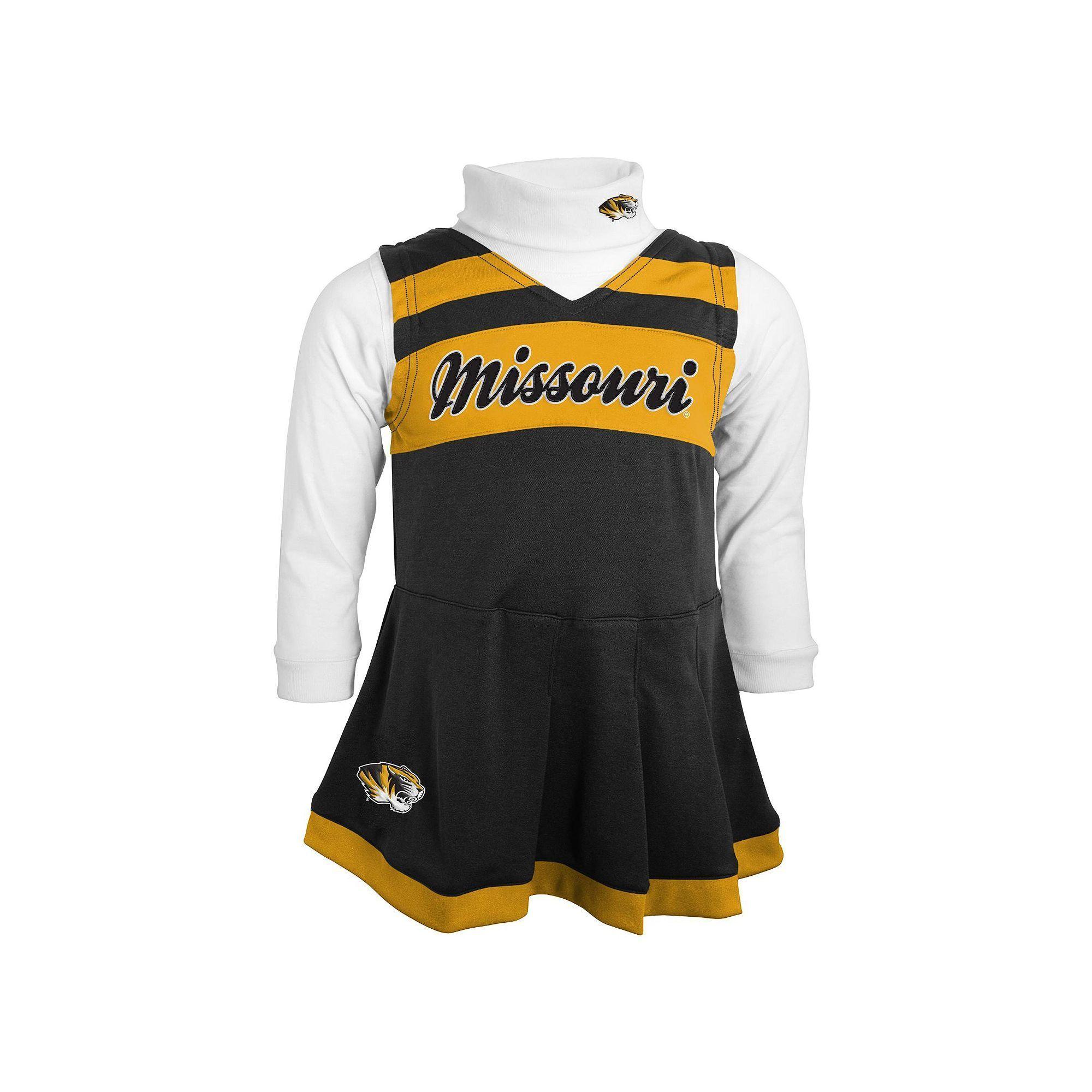 Toddler Missouri Tigers Cheerleader Jumper Set bec2ae87b
