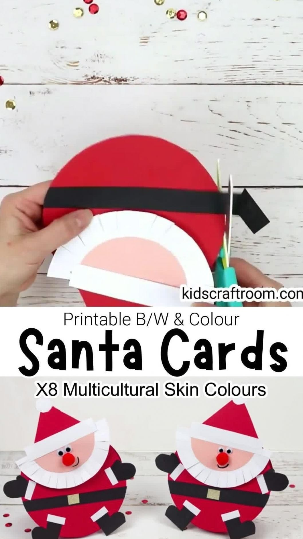 Santa Christmas Cards Christmas Card Crafts Santa Christmas Cards Diy Christmas Cards