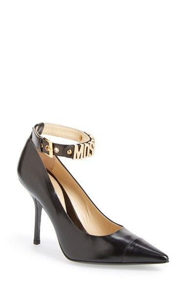 ae10549b8802 Moschino Logo Ankle Strap Pump (Women) available at  Nordstrom ...