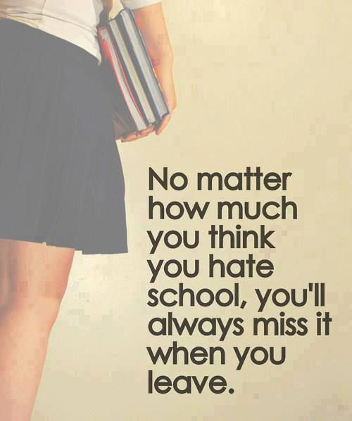 this is so true and will always happens at the last day of school