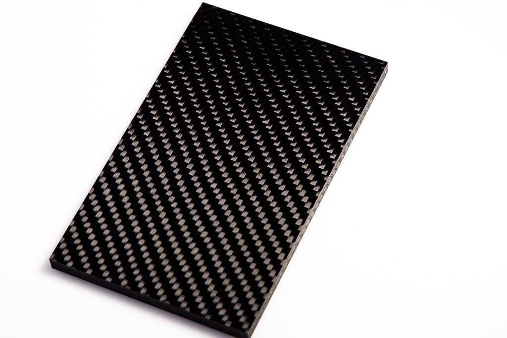 Premium Woven Carbon Fiber Knife Scales, Twill Weave | Knife