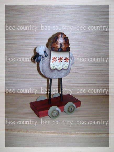 Sheep primitve Doll P
