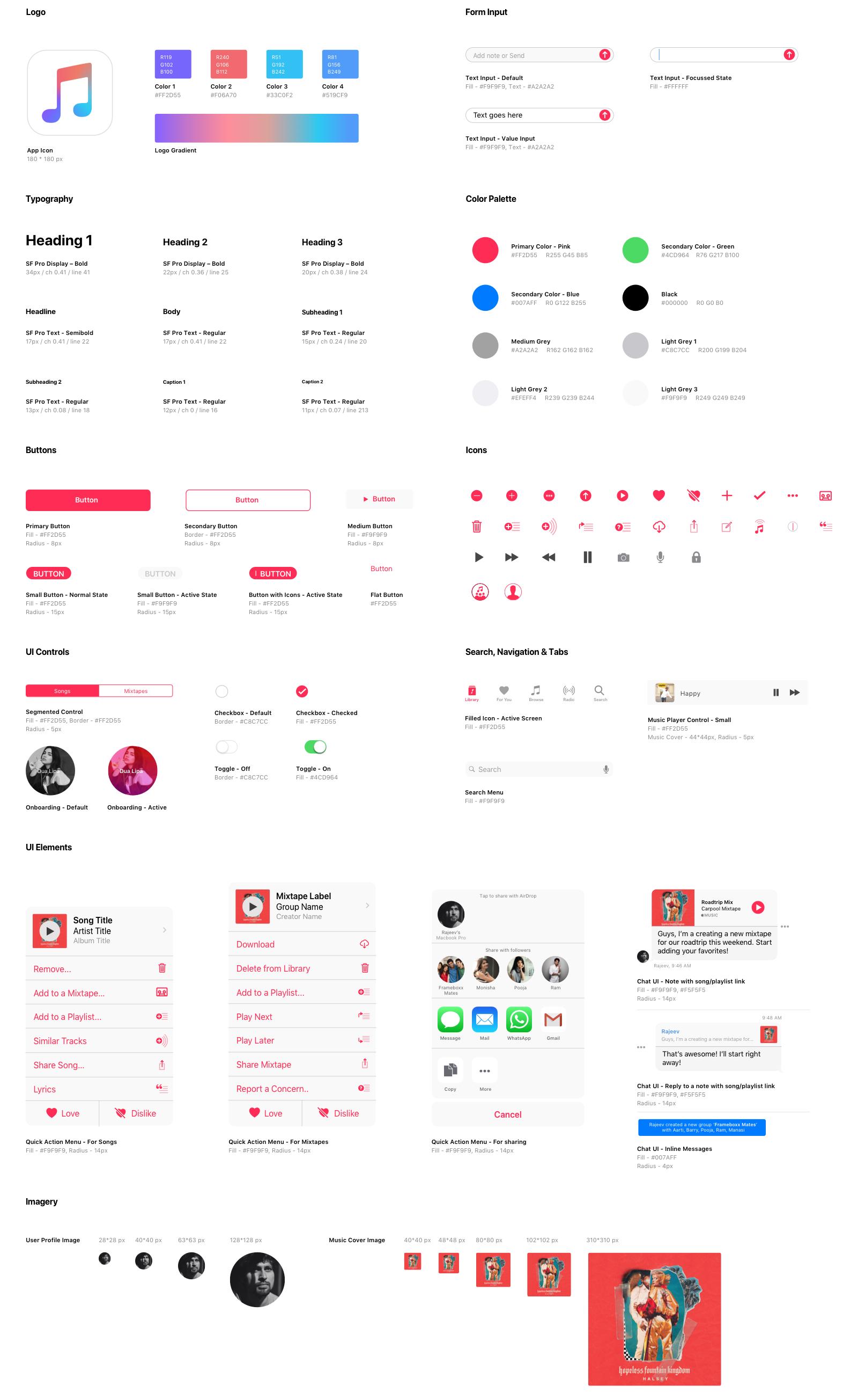 Aarthi Padmanabhan Apple Music Style Guide Design Web Style Guide Design Guidelines