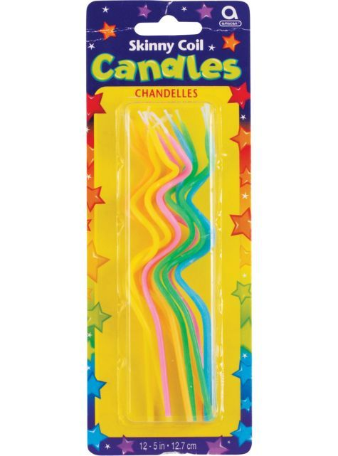 Skinny Coil Birthday Candles 12ct