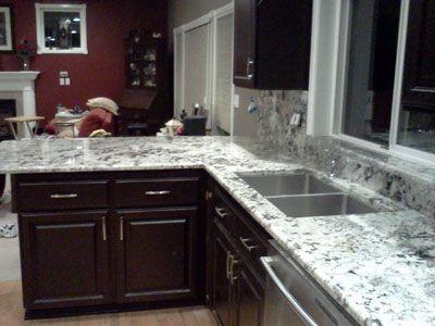 Alaska White Granite Kitchen | Alaskan White Countertop