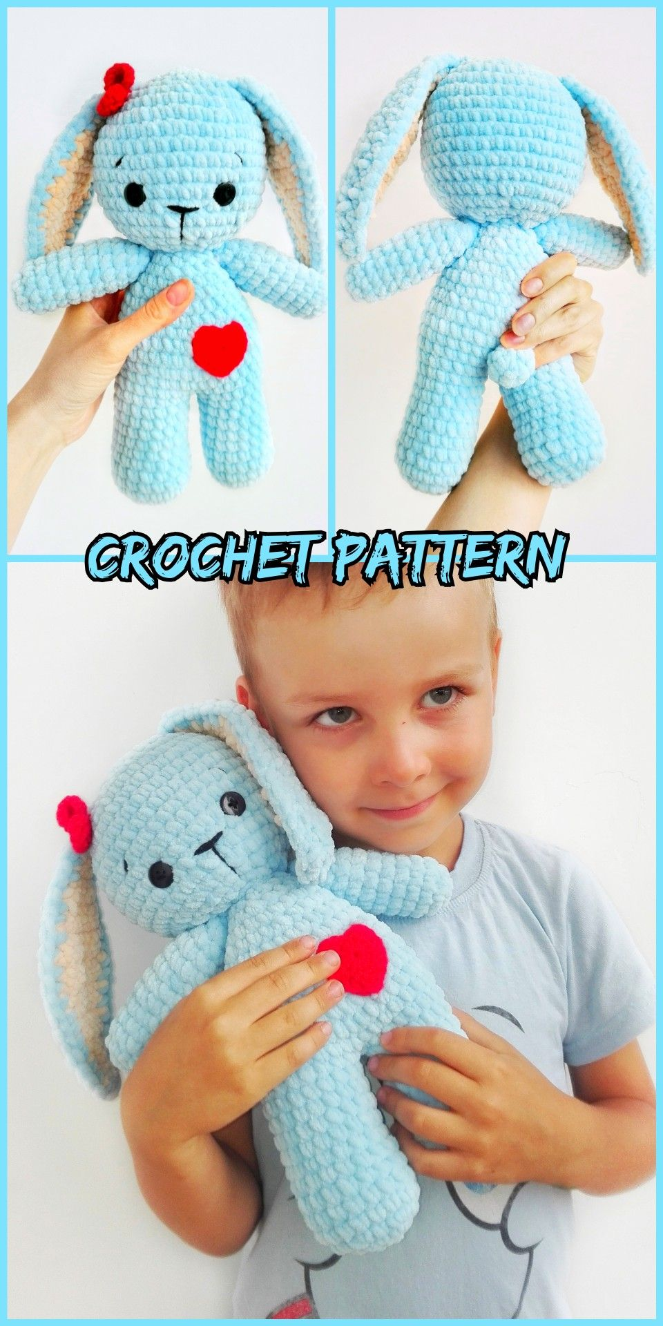 Plush Blue bunny pattern by Julia Kor | Crochet toys, Crochet ... | 1920x960