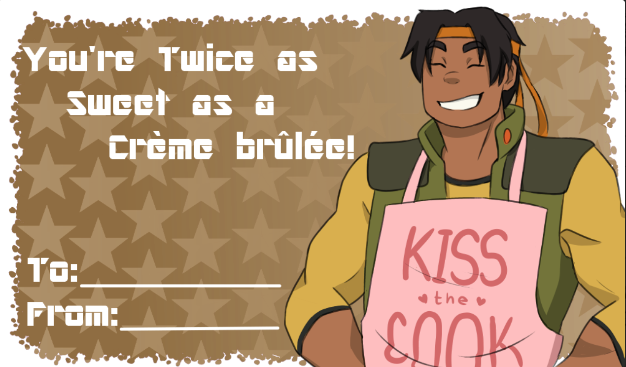 Hunk S Valentine S Day Card Voltron Legendary Defender Pinterest