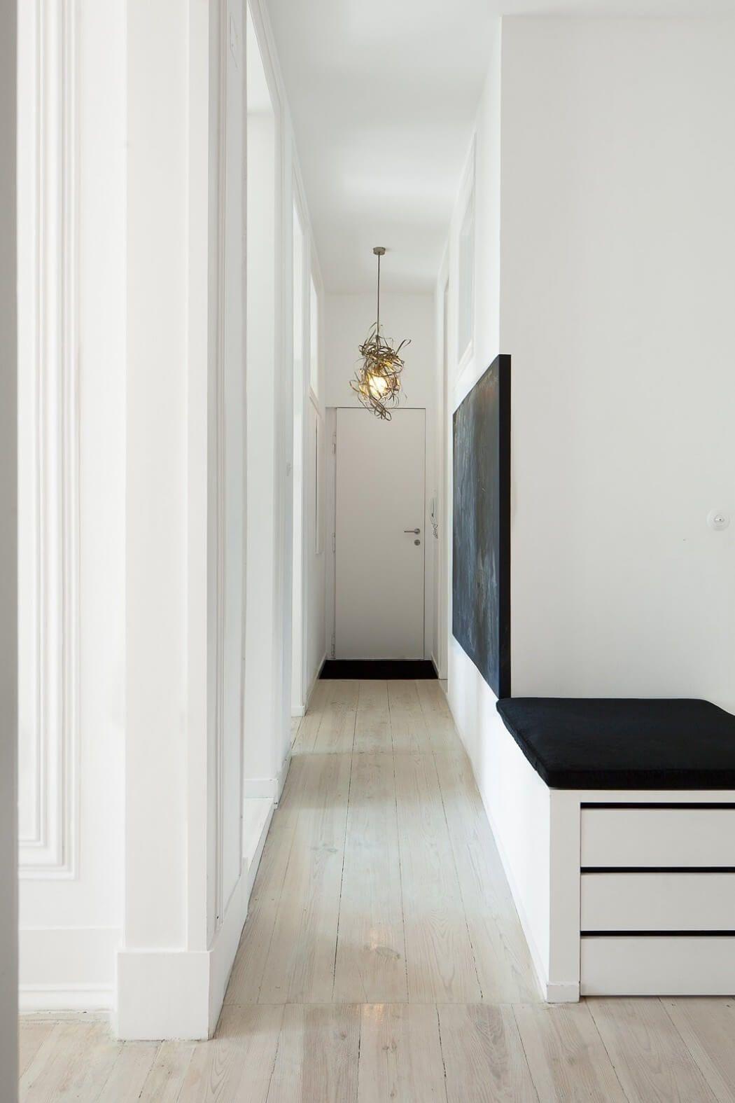 Entry hallway lighting  Historic Lisbon Apartment Preserves Ornate Details  freshome