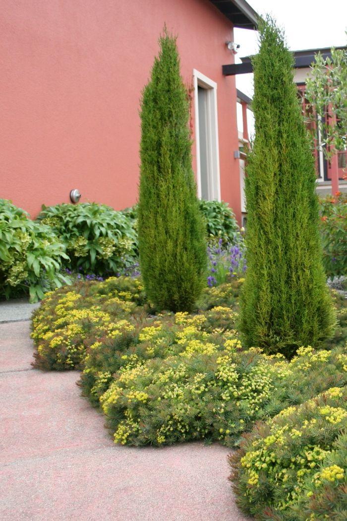 Zypressen - Gartengestaltung Ideen Italienischer Stil ... Ideen Gartengestaltung Italienischer Stil