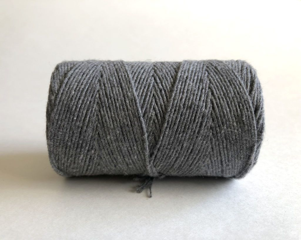 Charcoal Gray Macrame Cord Fiber Art Rope 100 Cotton Rock Mountain Co Fiber Art Rope 1mm 1 16 X Gardening For Kids Macrame Projects Macrame Cord