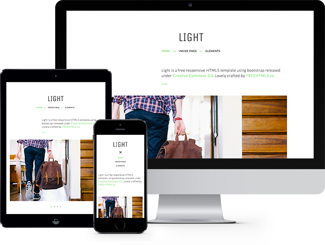 Light Free HTML5 Template Bootstrap Free Responsive