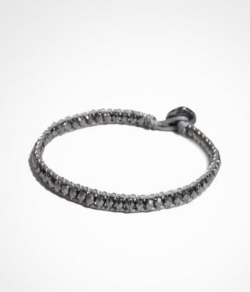 BEADED LEATHER BRACELET at Express