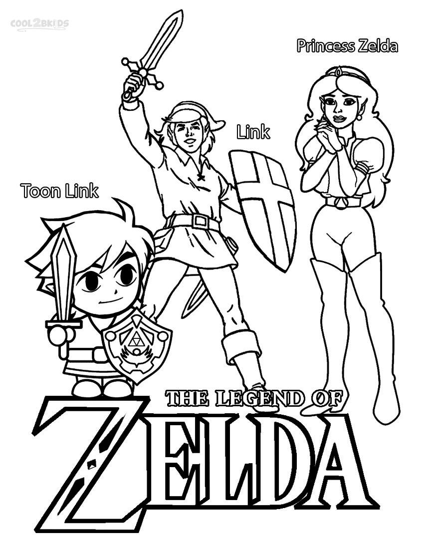 printable zelda coloring pages for kids  cool2bkids