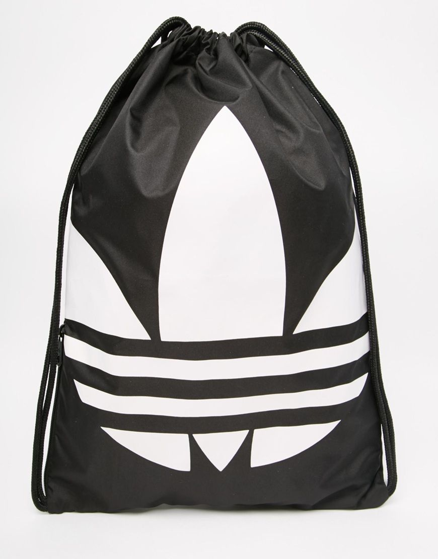 adidas Originals Drawstring Backpack in Black | India Trip ...