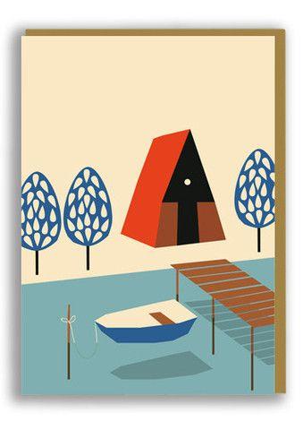 Anna Kövecses Lake Greetings Card